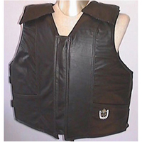 Black Leather Youth Vest