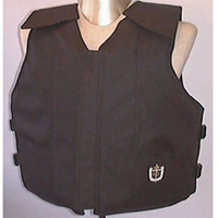 Black Polyduck Youth Rodeo Vest