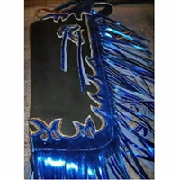 Custom Youth Chaps Black Blue