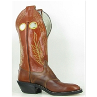 Olathe Boots:Vamp Burnished Cow