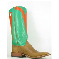 Olathe Boots:Vamp Rust Burnished Crazy Horse