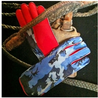 camo Bull Riding Gloves