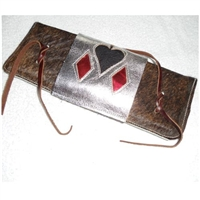 Hair-On Bull Rope Pad with Poker Flap Over