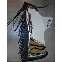 Half and Half Rodeo Chaps in Stock