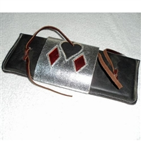 Leather Bull Rope Pad with Poker Flap Over