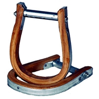 Metal/Wood Bound Bronc Stirrups